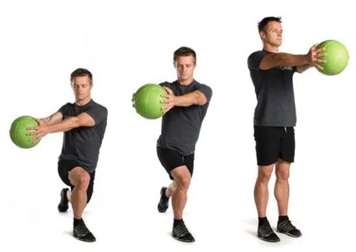 Lunges with rotation